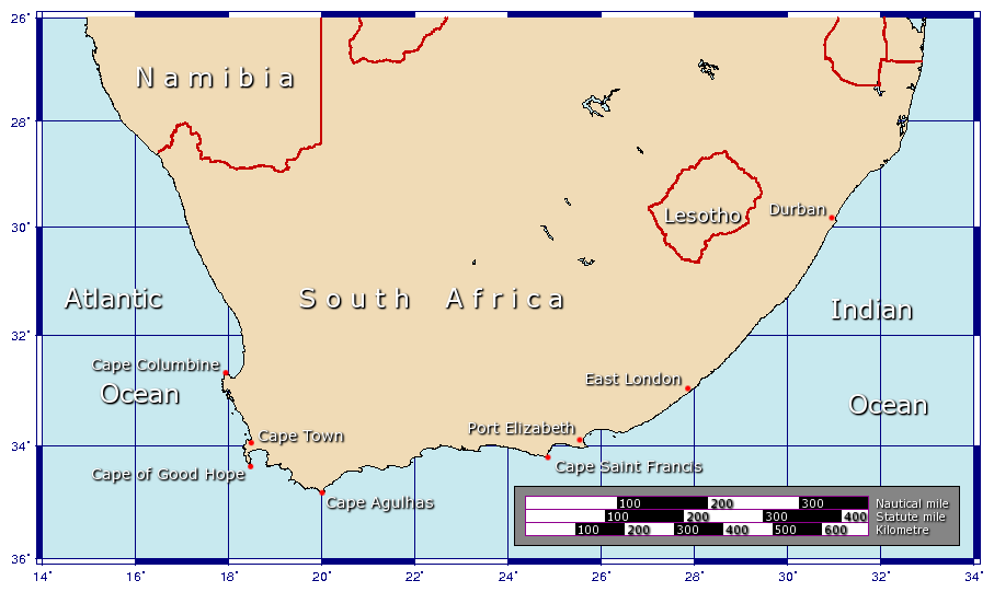 Cape Of Good Hope On Africa Map | Pics | Download |